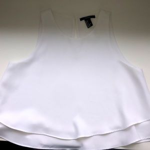 Ruffle-bottom, cropped blouse